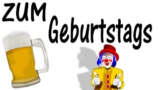 Geburtstagslied lustig Deutsch , Happy birthday song lustig