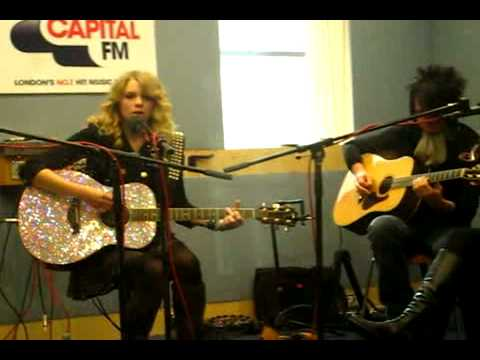 You're Not Sorry Acoustic Live - Taylor Swift  - Part 2. Live At Capital Radio In London