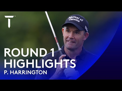 Padraig Harrington moves a tree during eventful opening round  | 2020 Dubai Duty Free Irish Open