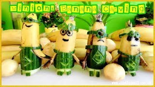 How To Make Minions Banana | Fruit & Vegetable Carving Garnish