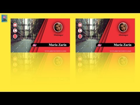 Nice Business card design in photoshop CC tutorial 2019 thumbnail