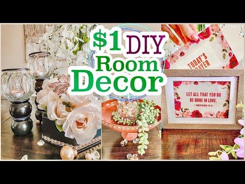 5 Dollar Tree DIY Room Decor Crafts!!