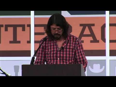 Dave Grohl South By Southwest (SXSW) 2013 Keynote Speech in