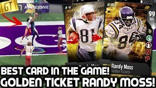 golden ticket randy moss best card in the game madden 18 ultimate team
