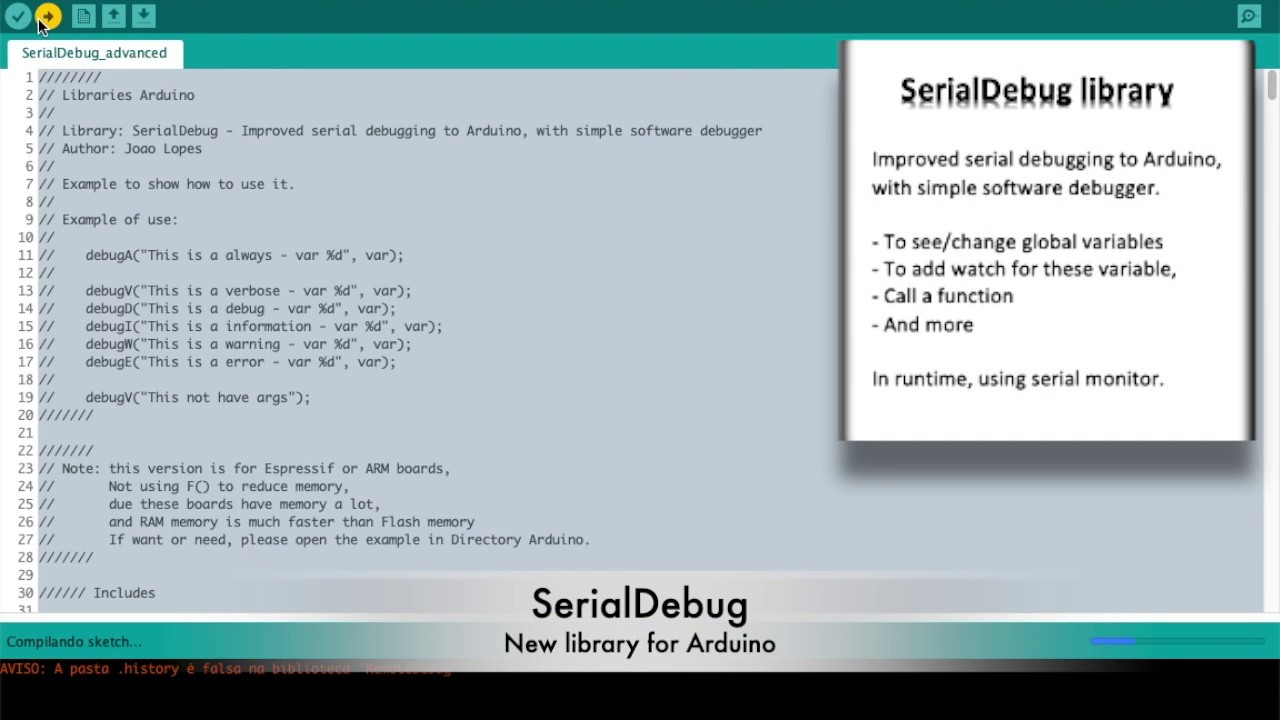 SerialDebug library for Arduino