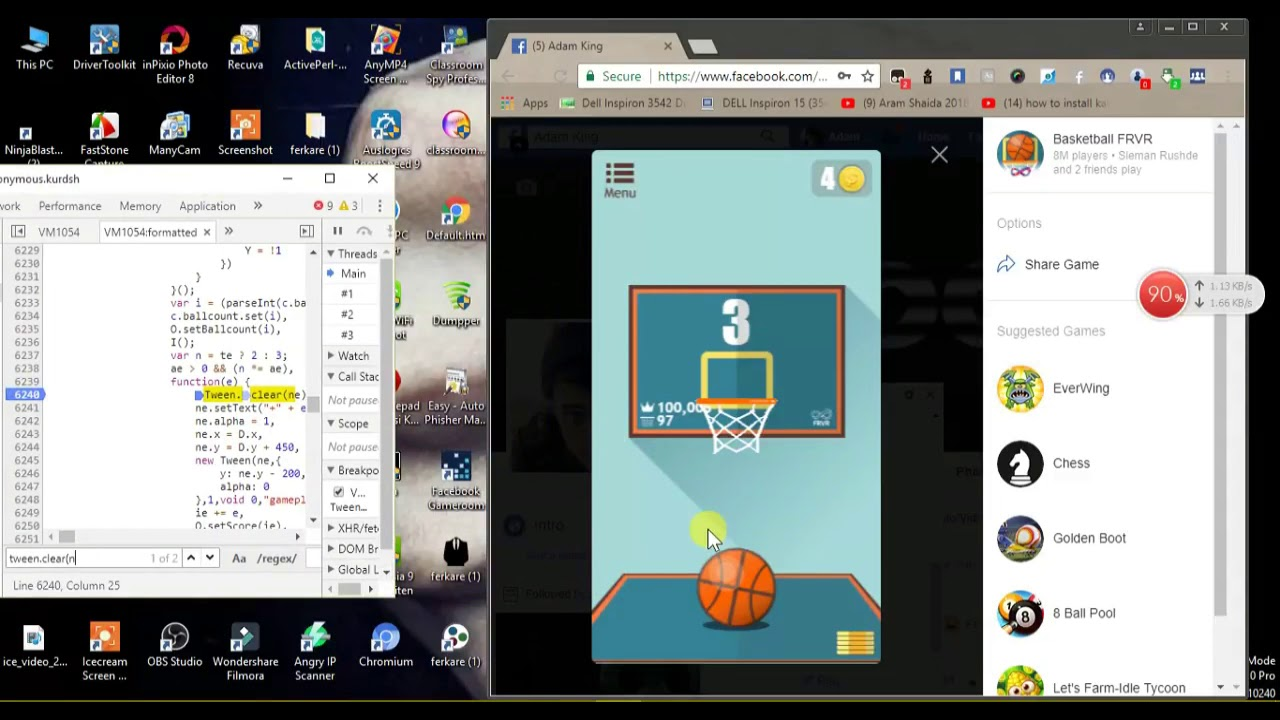 How to Hack Basketball FRVR Messenger Game From PC 2018 ?