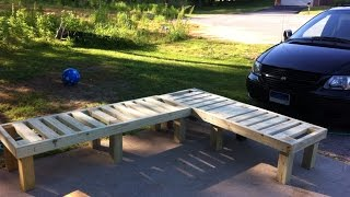 How To Make a DIY Corner Lounge Bench - DIY Home Tutorial - Guidecentral