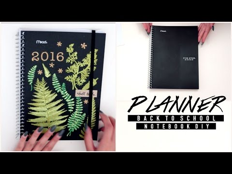 DIY PLANNER FROM NOTEBOOK | BTS CatCreature