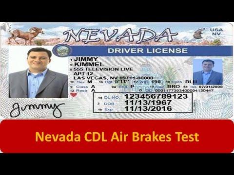 Nevada CDL Air Brakes Test