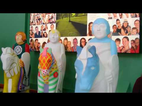 Painting the Lincoln Knights for the Lincoln Knights Trail 2017