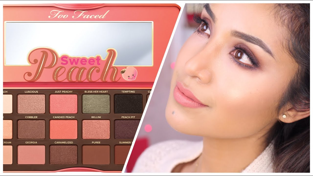 too faced sweet peach eye palette. Black Bedroom Furniture Sets. Home Design Ideas