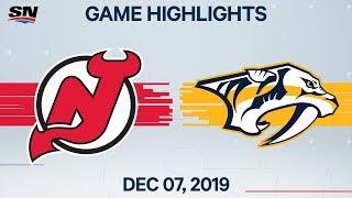 NHL Highlights   Devils vs Predators – Dec. 7, 2019