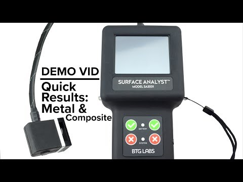 Demo Video: Quick Results on Metal & Composite
