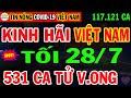 Gambar cover 🛑Tin Khẩn TỐI 28/7:VN KHỦNG HOẢNG 117.121ca nhiễm, TP.HCM KHẨN TRƯƠNG TĂNG 100 Xe Cấp Cứu Chở F0