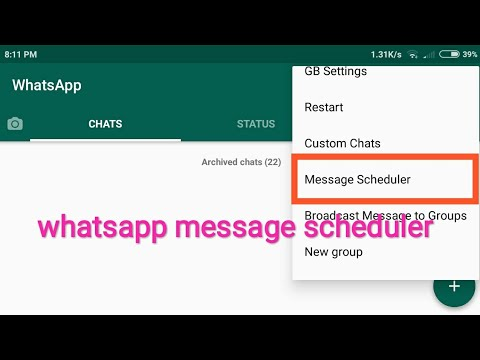 GBWhatsApp new message scheduler
