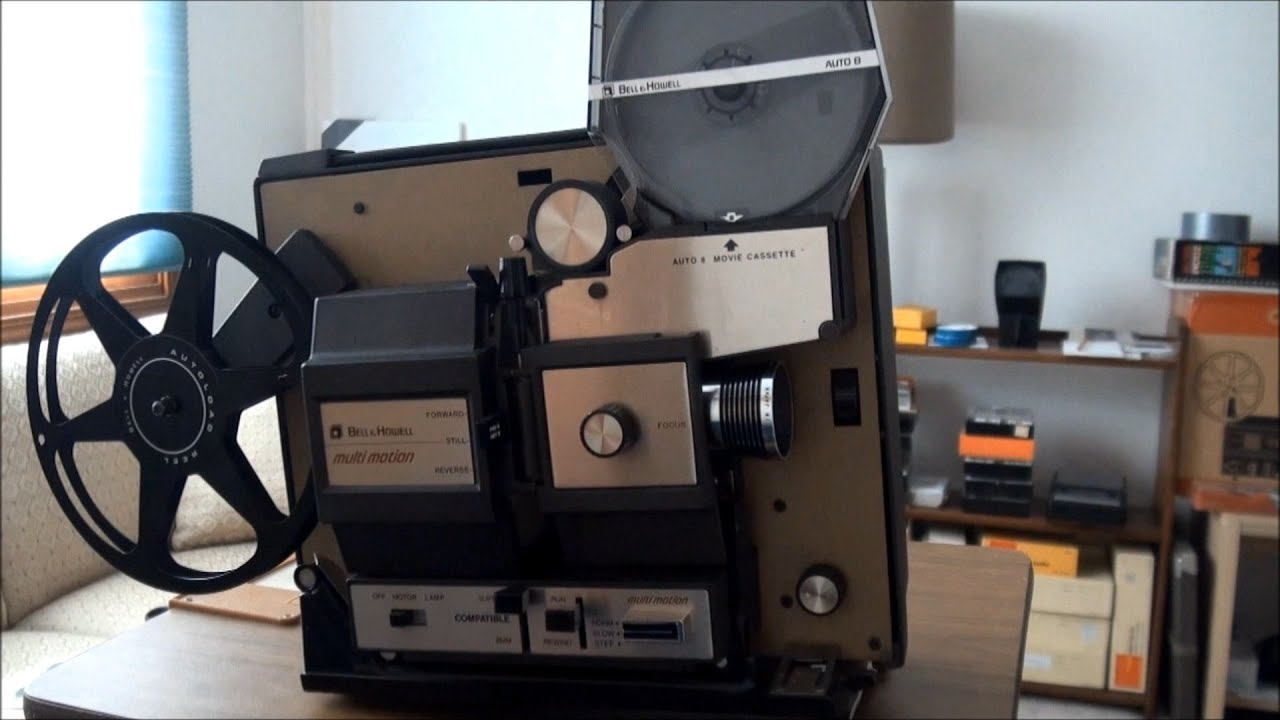 1970 bell howell auto 8 film cassette projector youtube. Black Bedroom Furniture Sets. Home Design Ideas