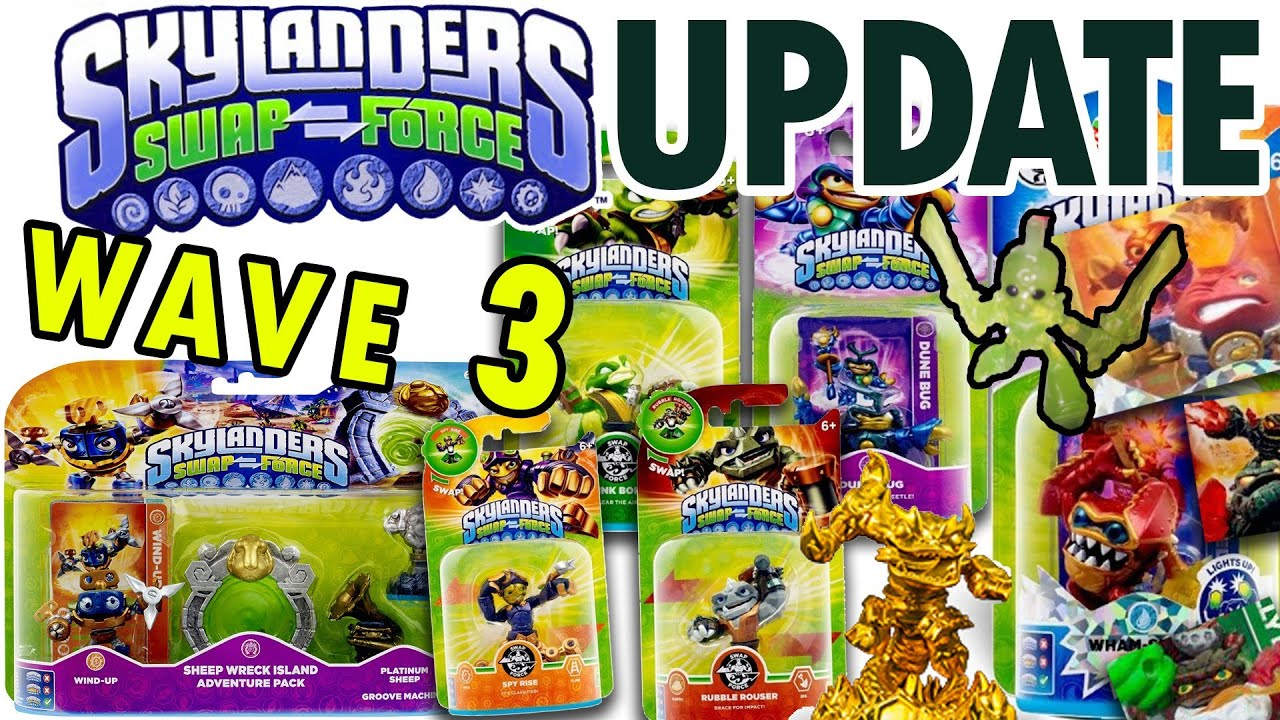 Uncategorized Skylanders Swap Force.com skylanders swap force wave 3 update rubble rouser spy rise stink bomb dune bug wind up more youtube