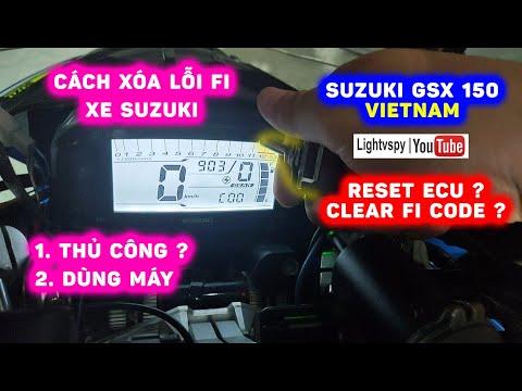 🏍 Gọi và xóa lỗi Fi cho xe Suzuki - cách THỦ CÔNG và MÁY ĐỌC ECU | Suzuki GSX S150 Lightvspy 👨🔧 🇻🇳