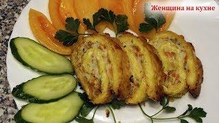 Очень вкусный и сочный мясной рулет с сыром Простой рецепт праздничного рулета