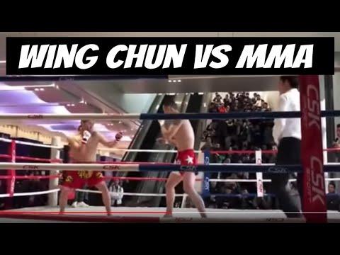 MMA vs Wing Chun - Xu Xiaodong&39;s Friend Uses Only Left Side vs Wing Chun Master