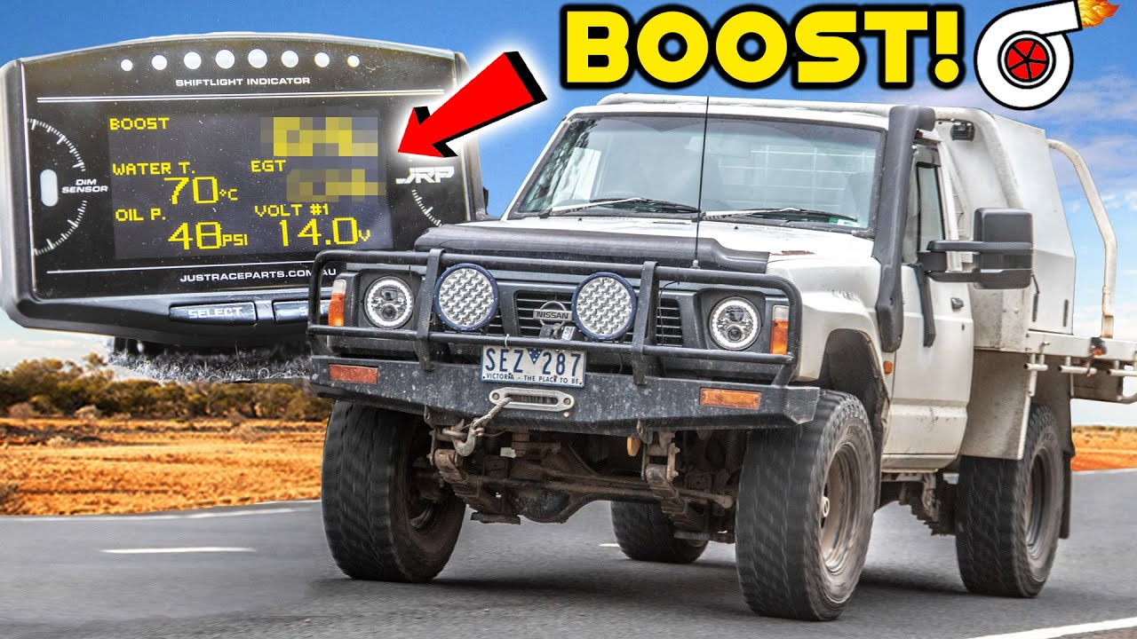 How Much BOOST does my TURBO TD42 4x4 Make? DID it get TOO HOT!? | JRP 14in1 Gauge Install