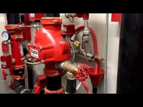 Tyco dry valve set up
