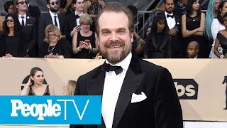 David Harbour On Millie Bobby Brown Growing Up In Hollywood | PeopleTV | Entertainment Weekly