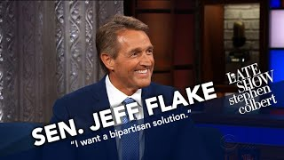 Sen. Jeff Flake Will Vote For The Graham-Cassidy Healthcare Bill by : The Late Show with Stephen Colbert