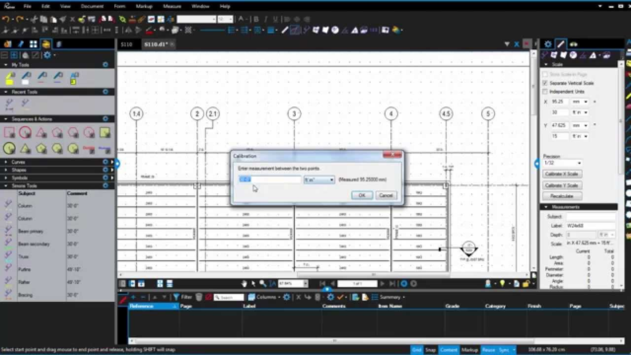 How to use Revu's Snap function by Bluebeam, Inc