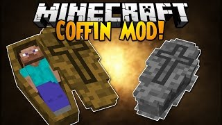 Обзор модов Minecraft #137 Coffin Mod 1.7.10 - Гроб открыл - всех погубил =)