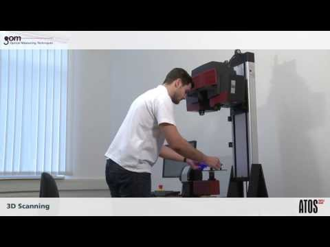 ATOS Triple Scan in use - Complete workflow of measuring a small object