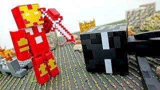 Видео #Майнкрафт Железный Человек VS Эндермен! Битва за Шахту! Игры #длямальчиков Лего #Minecraft