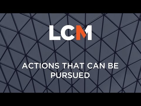 Actions That Can Be Pursued