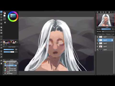 [Medibang Paint Pro Desktop Version How To] White Hair Color Tutorial - Painting Style