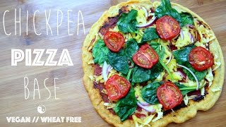 Chickpea Pizza Base  Vegan  Wheat free