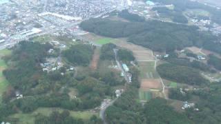 空から見た嵐山町 平沢~千手堂