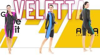 Baju renang diving terusan wanita dewasa lengan panjang