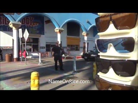 SANTA MONICA POLICE DROP OFF HOMELESS OFTEN AT VENICE BEACH CALIF DEC 2015