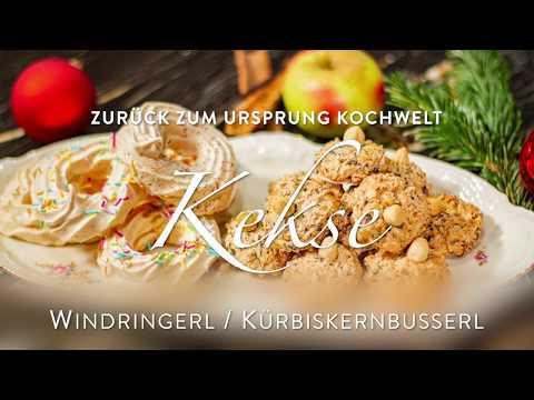 Kochwelt - Weihnachtskekse: Windringerl & Kürbiskernbusserl