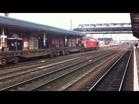 60091 DB Schenker passing Doncaster