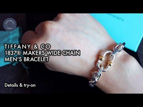 NEW Tiffany & Co. 1837® Makers Men's Wide Chain Bracelet – Men's Collection 2019