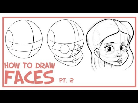 How To Draw Faces- 3/4 View: CARTOONING 101 #2