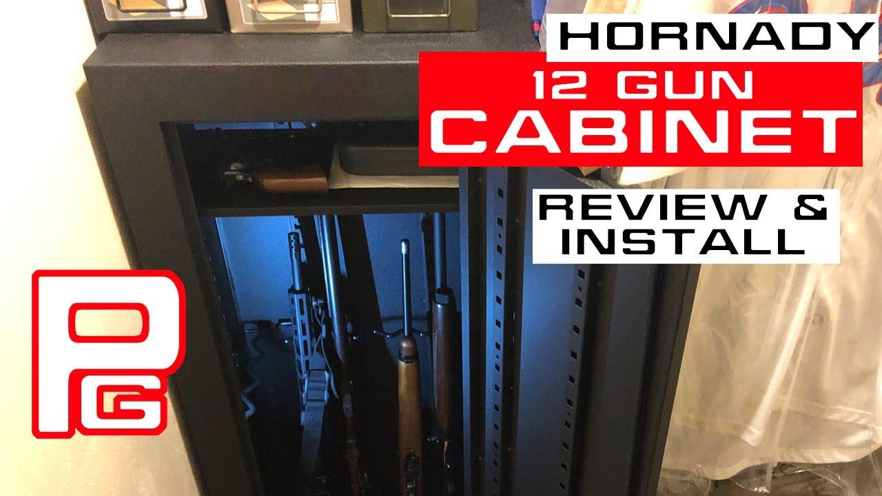 Hornady 12 Gun Security Cabinet Youtube