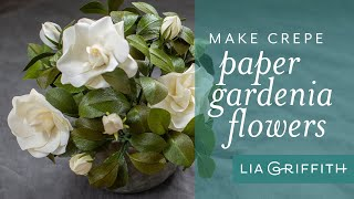 Gardenia with Double Sided Crepe