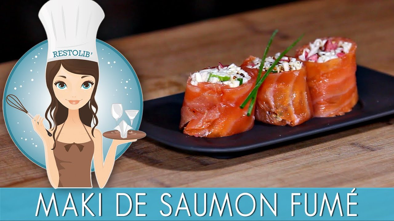 recette maki de saumon fum r moulade de c leri la pomme youtube. Black Bedroom Furniture Sets. Home Design Ideas
