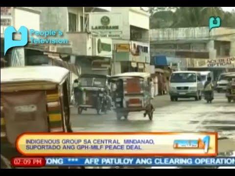 Indigenous group sa Central Mindanao, suportado ang GPH-MILF peace deal || Feb. 6, '14