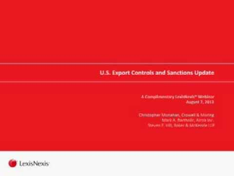 LexisNexis® Webinar: Export Trade Controls