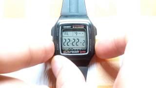 카시오 알람 스탑워치 손목시계 리뷰 및 설명서  (Ca…