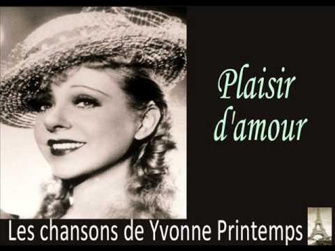 Yvonne Printemps - Plaisir D'Amour