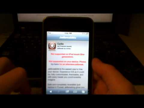 How to jailbreak ipod touch 2g, 3g only with 4 2 1 Firmware (Easy!)